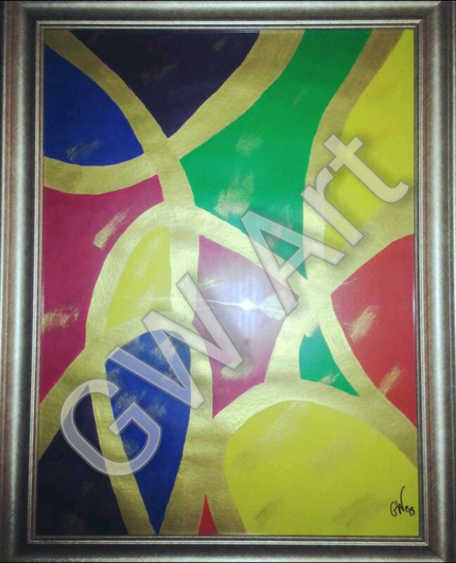 Framed acrylic on paper