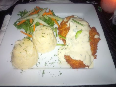 Parmesan Crusted Chicken and Mash