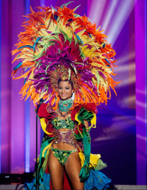 Kaci in the National costume show at the 63rd annual Miss Universe competition