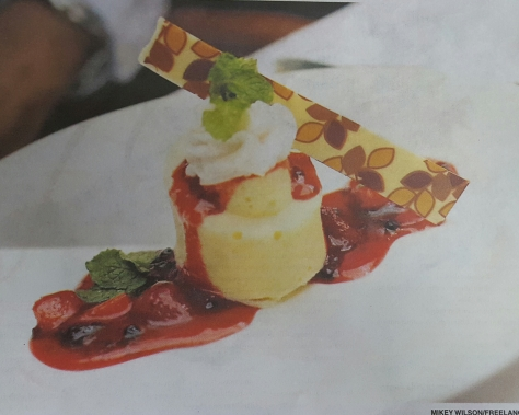 Image: The Jamaica Gleaner White Chocolate Cheesecake from The Terra Nova All-Suite Hotel