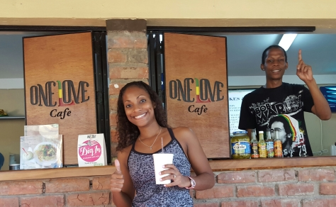 L-R: Gabby from Suga Lifestyle and Maurice from One Love Cafe