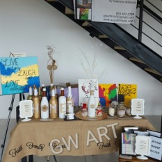 GW Art Booth at The Hub Co-Working's Christmas Pop Up Shop 2016