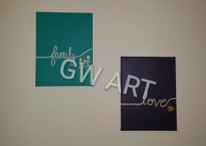 "Two (9*12)"" Canvases stretched on frame"