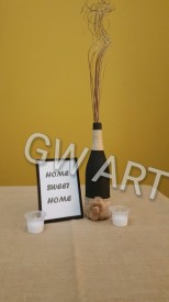 PRICES: Decorative Bottle - $2500JMD Framed Quote - $500JMD
