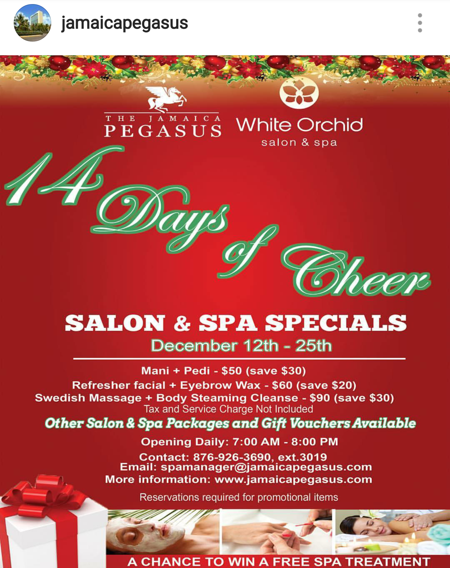 Christmas Spa Packages.Christmas Salon Spa Packages From The White Orchid Salon