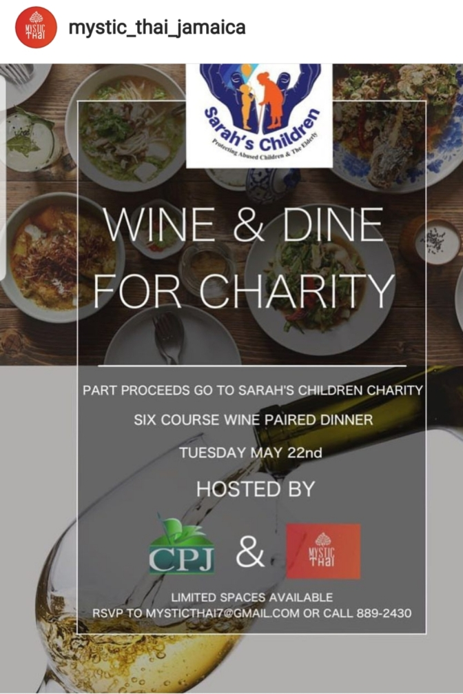 Wine and Dine for a cause at Mystic Thai next Tuesday!