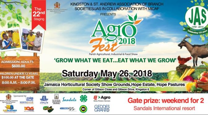 Agro Fest 2018 is this Saturday in Hope Pastures!