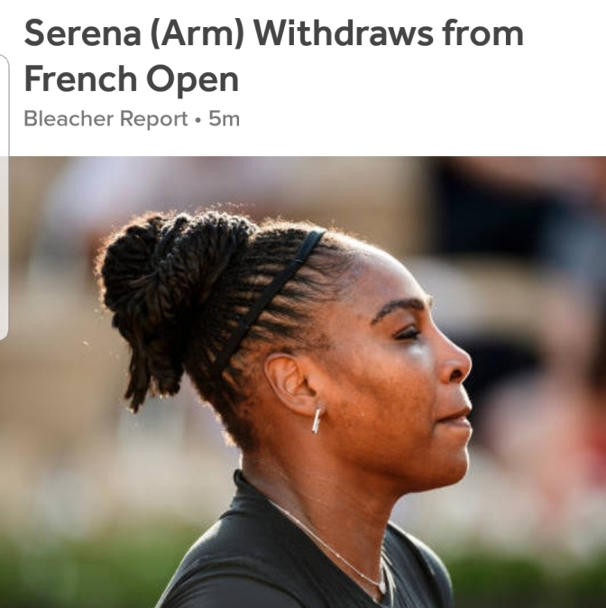 Serena out of French Open!