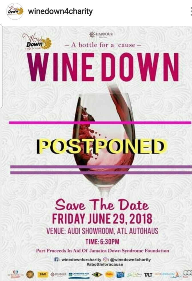 Wine Down for Charity Postponed!