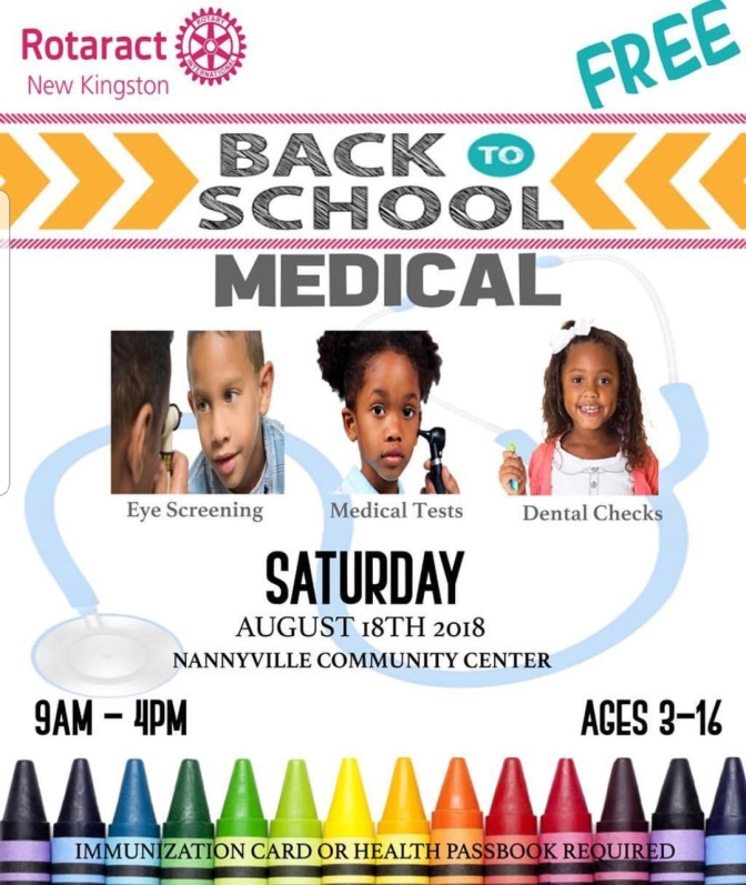 FREE Back to School Medical this Saturday!