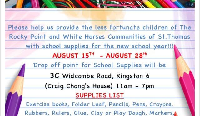 Help the Less Fortunate Children of Rocky Point and White Horses Communities, St.  Thomas go Back to School