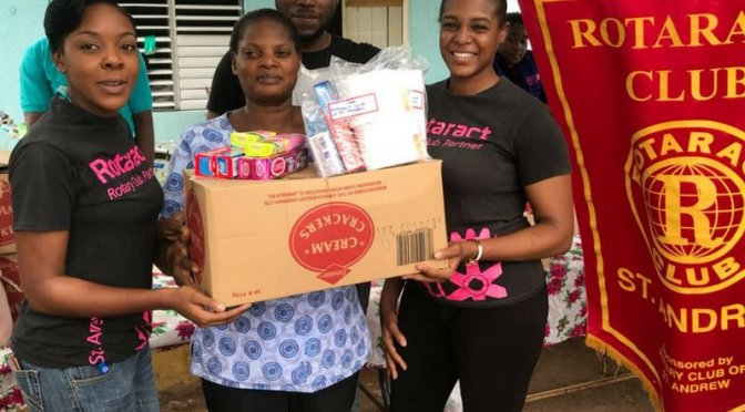 Rotaract St. Andrew gives over $70,000 worth of Toiletries to the Golden Age Home