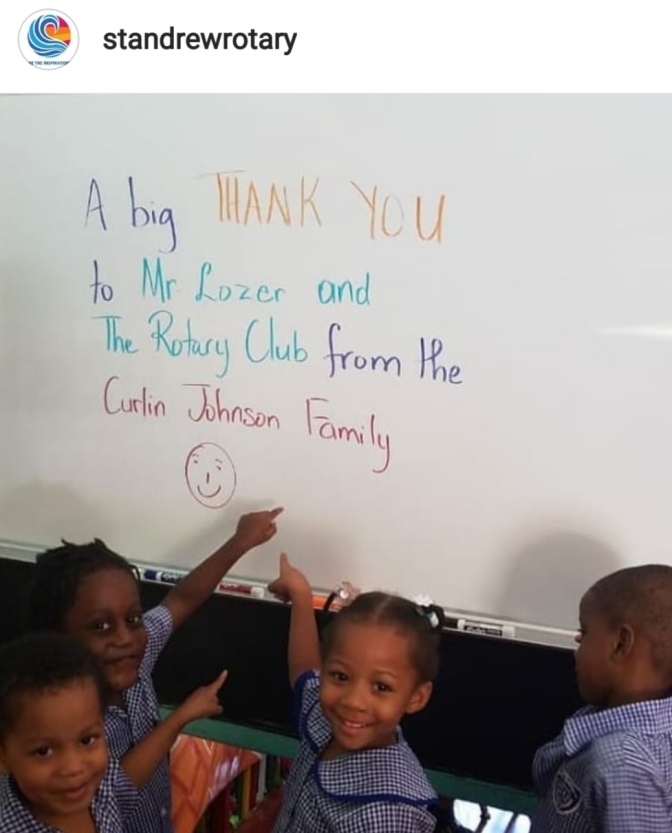 St. Andrew Rotary makes new addition to Curlin Johnson Basic School