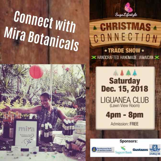 Connect with Mira Botanicals December 15 at SL Christmas Connection!