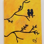 "'KISSING inna Tree' - (8×10)"" Acrylic on Canvas *CURRENTLY AVAILABLE*"
