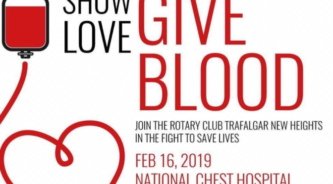 Show Love and Give Blood, the Gift of Life Tomorrow at National Chest Hospital