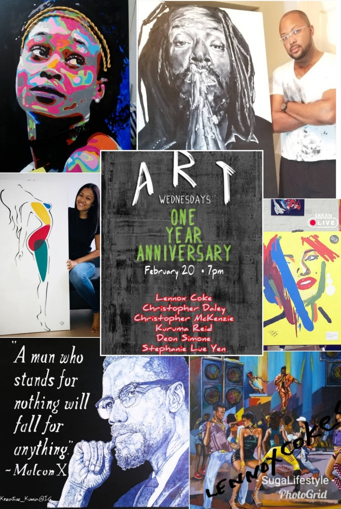 Art Wednesdays' 1 Year Anniversary at The Reggae Mill Bar Tomorrow!