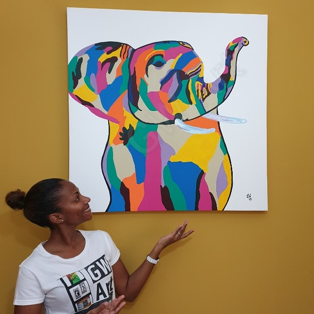 GW Art Adds Life to the Walls of a Home