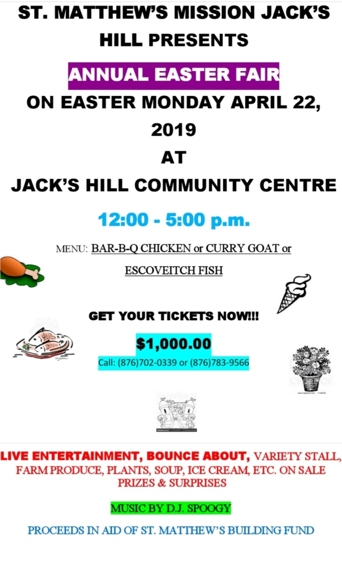 Annual Easter Fair in Jack's Hill on Easter Monday!