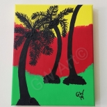 "'IRIE SET' - (8×10)"" Acrylic on Canvas"