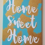 GW Art's new 'Home Sweet Home' Acrylic on (14×18)cm Canvas Painting.