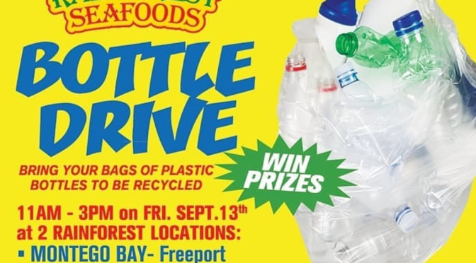 Bring Your Bags of Plastic Bottles to Rainforest Seafoods' Bottle Drive Tomorrow!