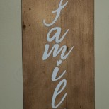 GW Art's NEW Wooden 'Family' sign